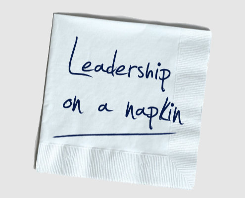 Leadership on a napkin